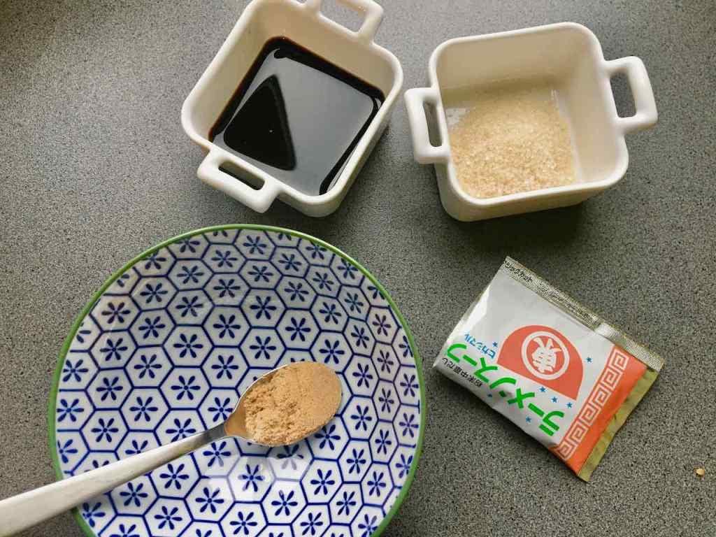 Ingrédients pour le bouillon de rames